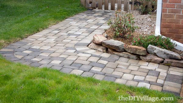 DIY Paver path, adding curb appeal to your home.