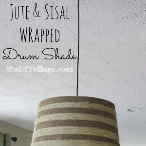 Jute & Sisal Wrapped Drum Shade at theDIYvillage.com