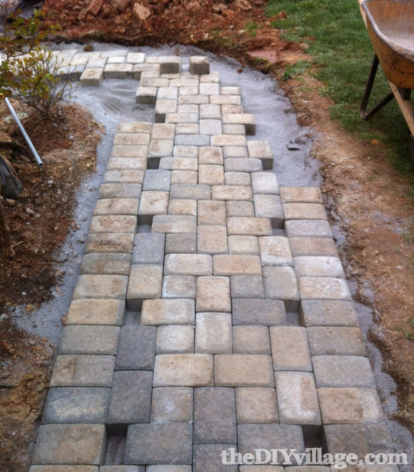 Diy Walkway Pavers Dry Pictranslator