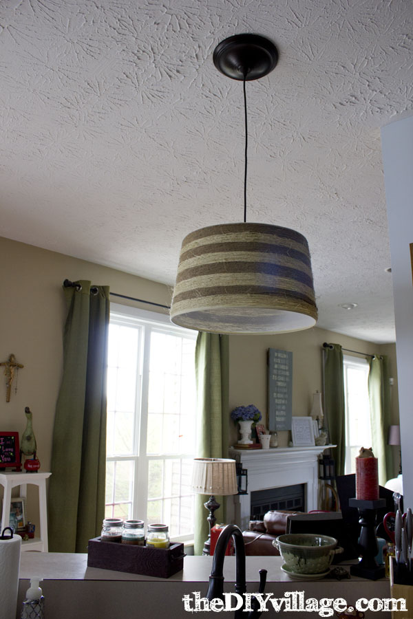 Jute & Sisal Wrapped Drum Shade at theDIYvillage.com