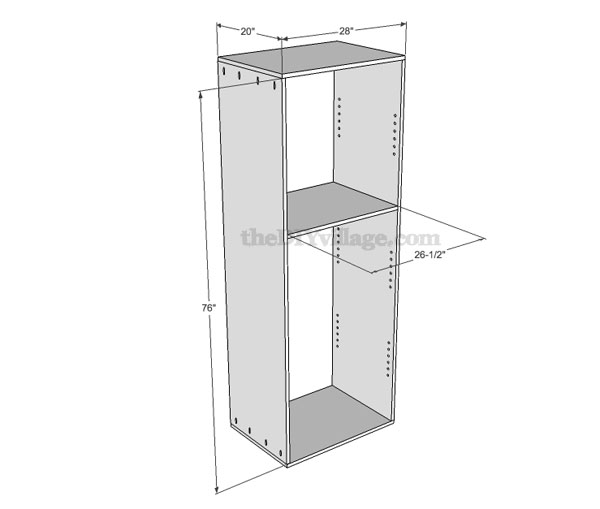 Build a pantry part 1 pantry cabinet plans included for Building kitchen cabinets in place