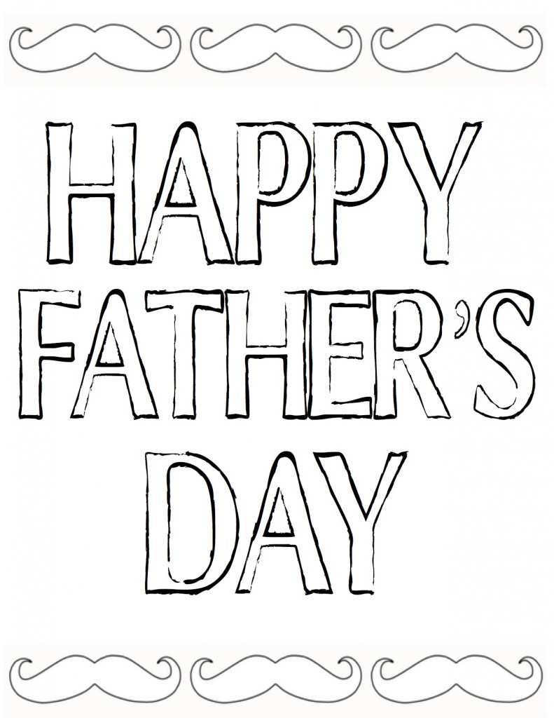 Happy Father's Day Color In Printable at theDIYvillage