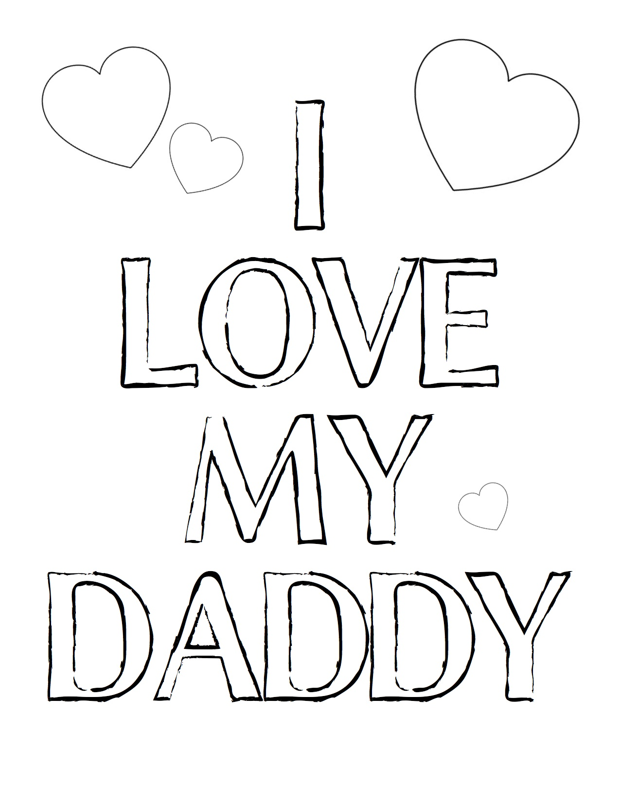 love daddy coloring pages - photo#2