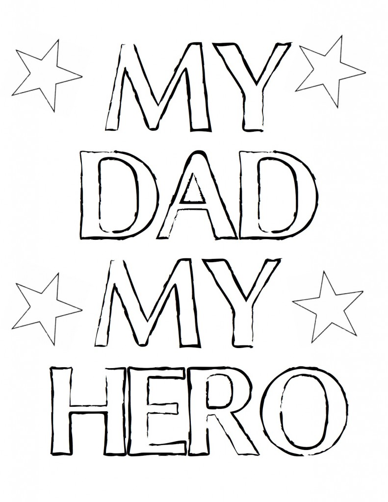 Father's Day Colorable Free Printable at theDIYvillage.com