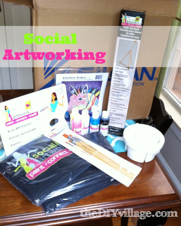 Painting Party in your own home at theDIYvillage.com