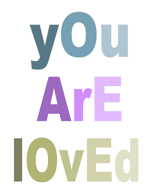 You Are Loved Free Printable at theDIYvillage.com