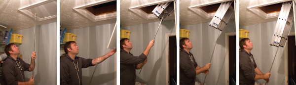 Deploying the Compact Attic Ladder : werner ladders attic  - Aeropaca.Org