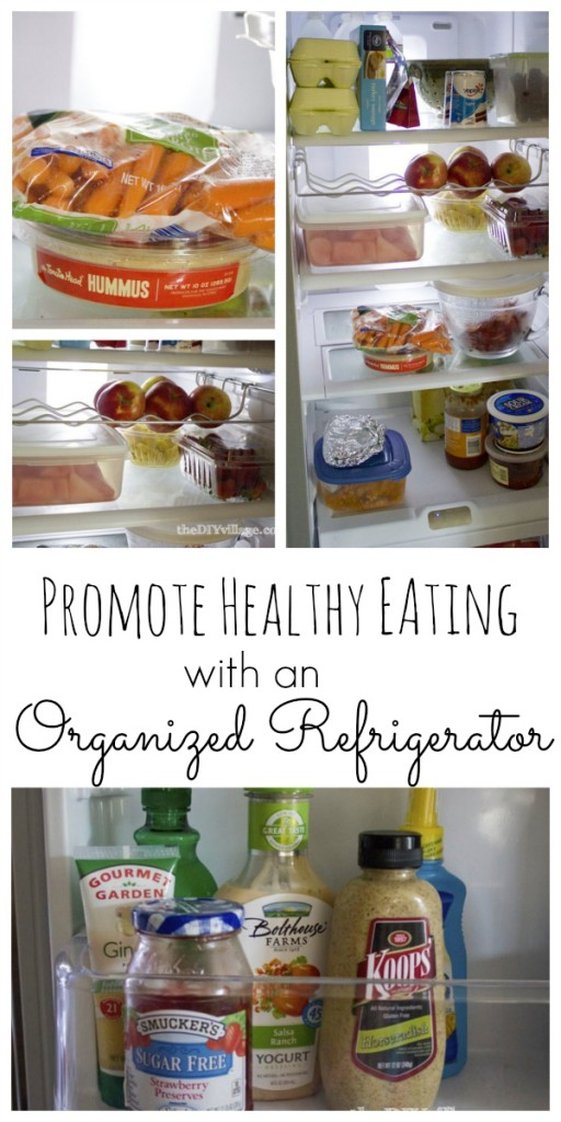 Promote Health Eating with an organized refrigerator at theDIYvillage