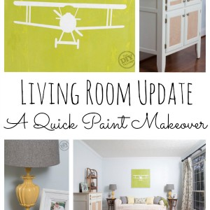 Living Room Update - Quick Paint Makeover at theDIYvillage