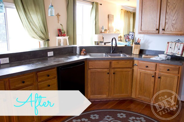 kitchen countertop makeover - the diy village