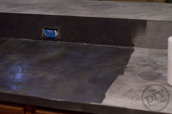Faux Concrete Countertop makeover