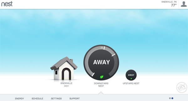 Smart Thermostat Away