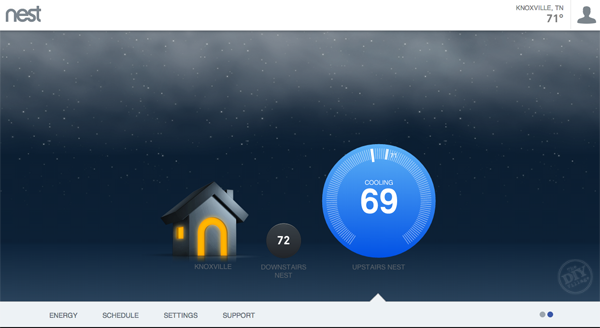 Smart Thermostat Web Screen