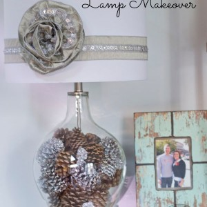 Winter Wonderland Lamp Makeover