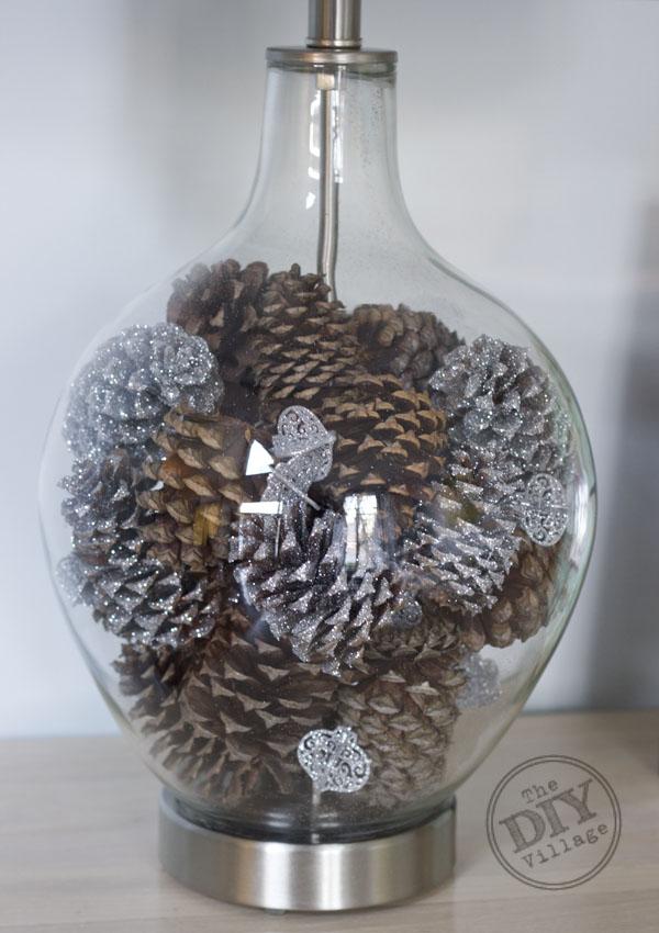 Winter Wonderland Lamp Makeover