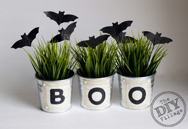 DIY Halloween Boo Buckets and Bats