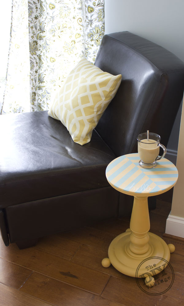 DIY Herringbone Side Table