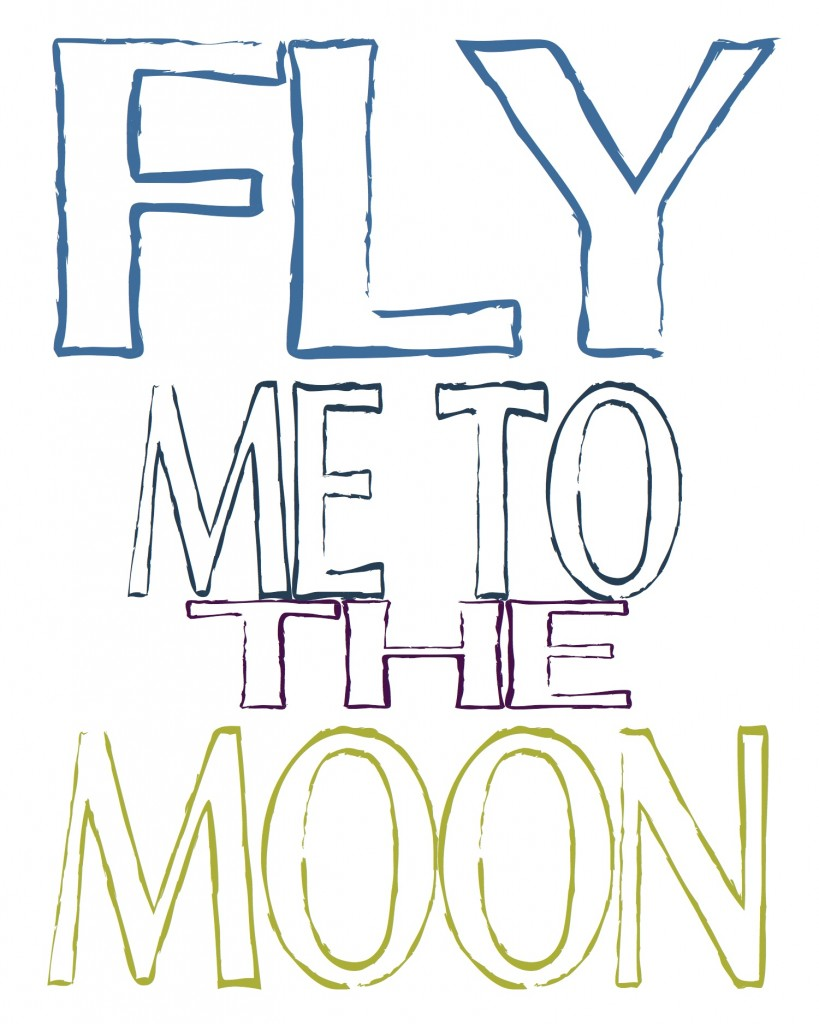 Fly Me to the Moon color free printable