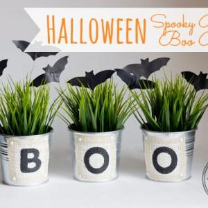 DIY Halloween Boo Buckets and Bats