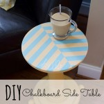 DIY Chalkboard Side Table