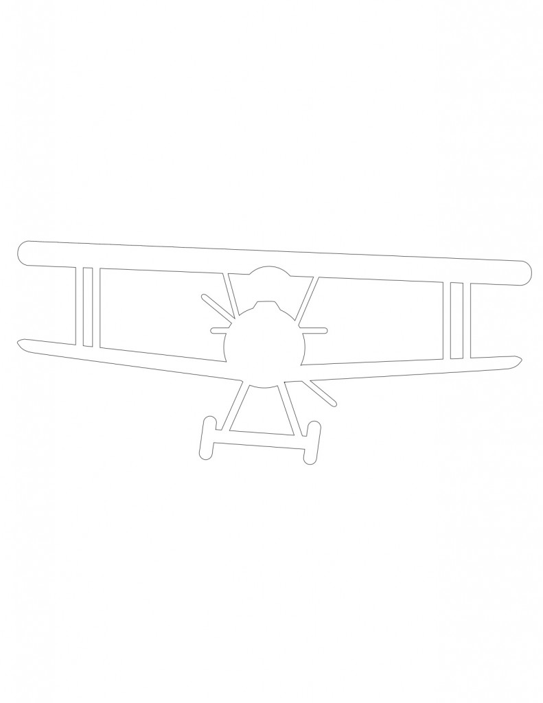Vintage airplane outline free printable