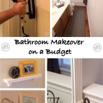 Bathroom makeover for under $ 80.00