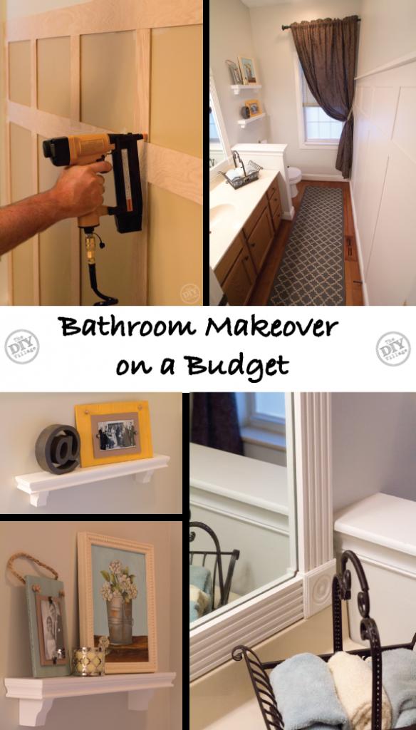 A Bathroom Makeover on a Budget! - The DIY Village on Bathroom Ideas On A Budget  id=27149