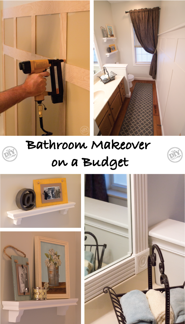 Bathroom makeover on a budget the diy village