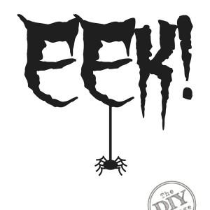 Free Halloween Printable EEK with Spider