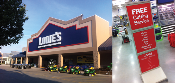 Lowes Cutting Service
