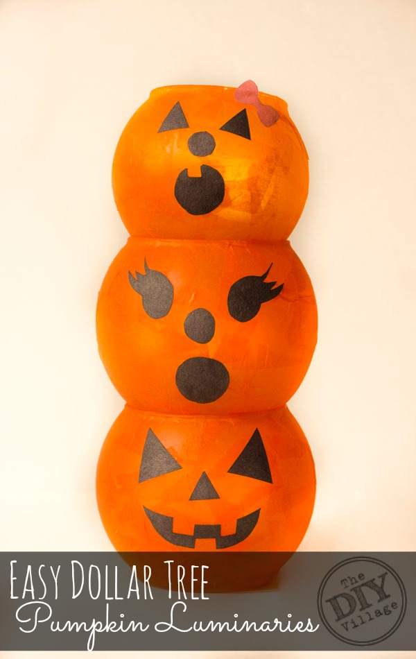Dollar Tree Pumpkin Luminary Family