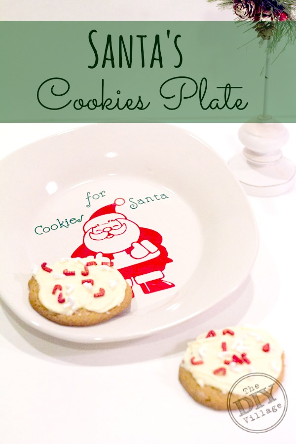 Santa's Cookie Plate with printable