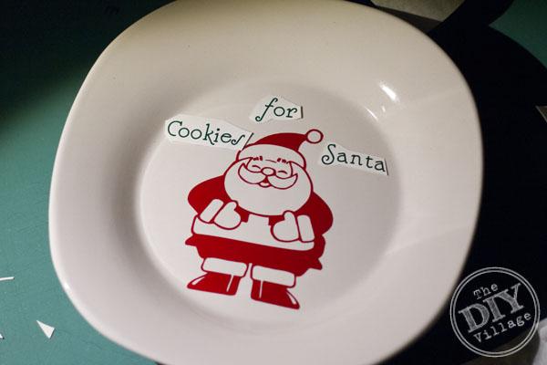Dollar Store Santa Plate