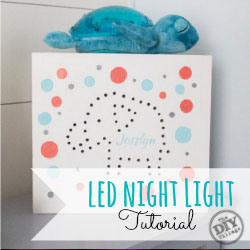Custom LED night light tutorial with printable template