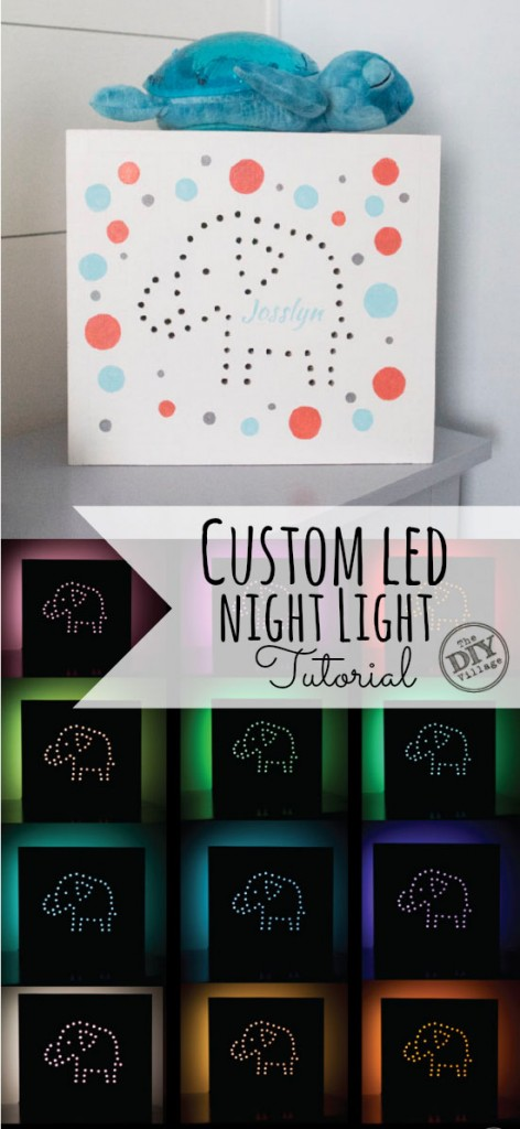 Custom LED Night Light tutorial