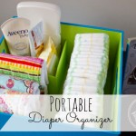 Diaper Organizer turned Holiday Wrapping Station