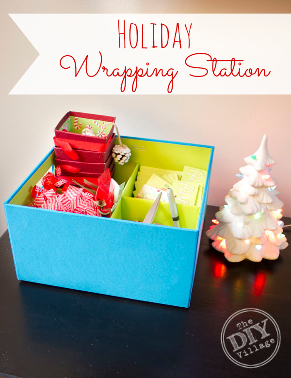 Keep organized with a Holiday Wrapping Station