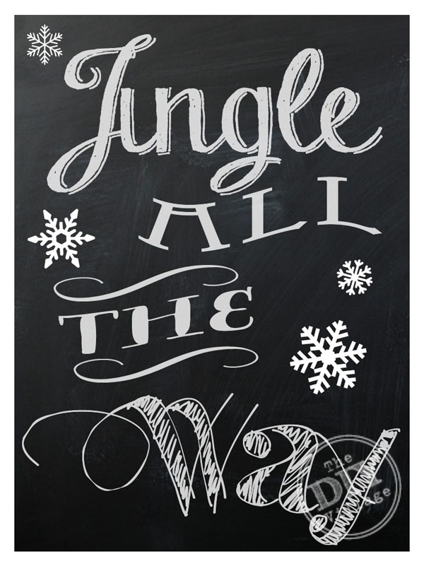 Jingle All the Way Chalkboard Printable