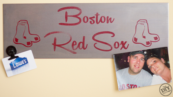 Red Sox Man Cave Magnet Board