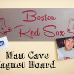 Manly (man cave) Magnetic (magnet) Board Tutorial #LowesCreator