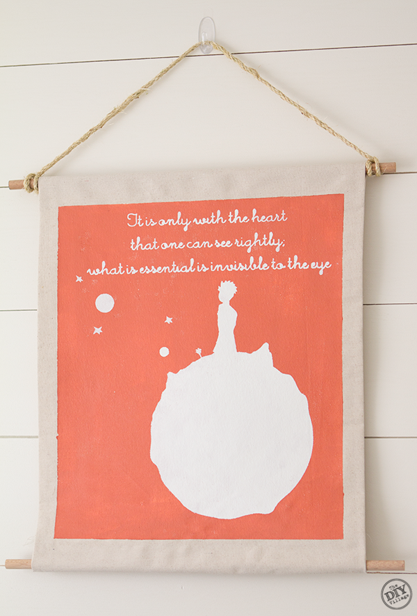 The Little Prince nursery wall art - tutorial