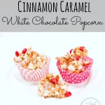 Cinnamon caramel popcorn with white chocolate drizzle ... yum!!!