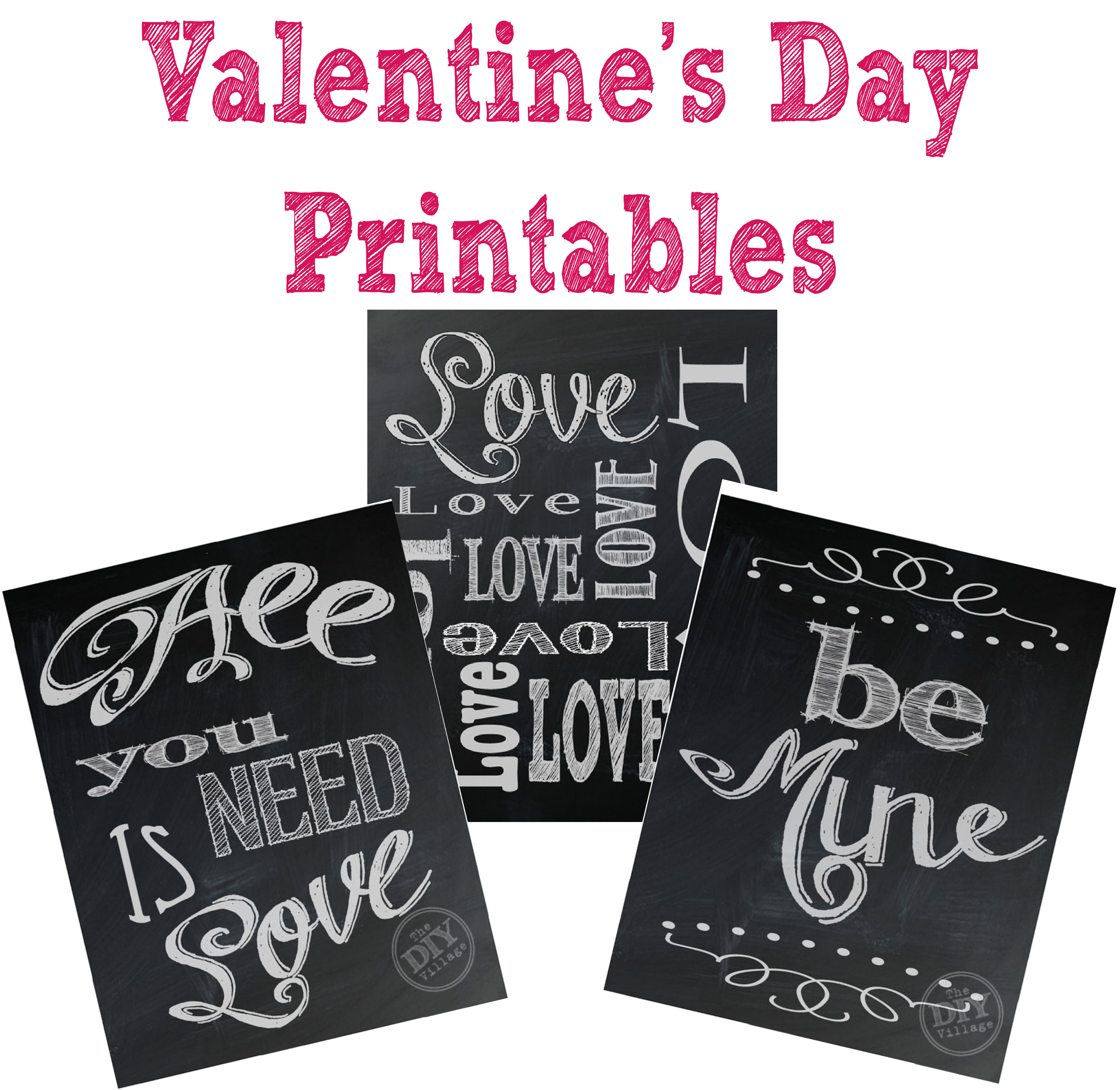 valentine s day chalkboard printables the diy village