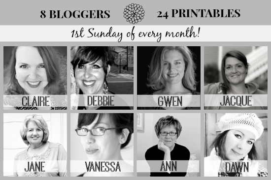 Monthly Printable Round-up