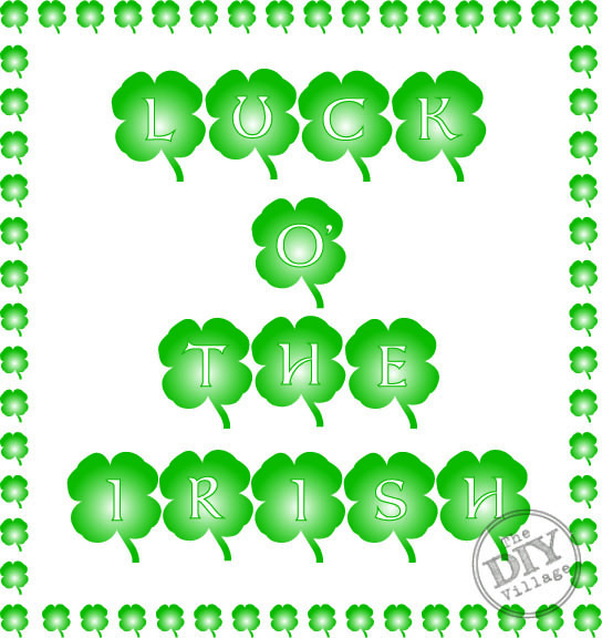 Luck O' The Irish free printable