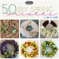50 DIY Spring Wreaths