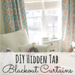 DIY Hidden Tab Curtains with Blackout Fabric