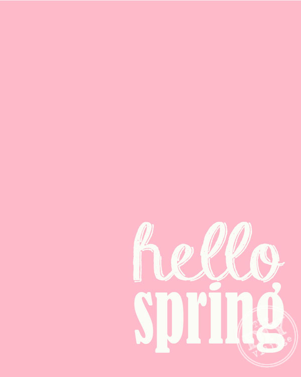 Hello Spring free printable including over 24 free printables