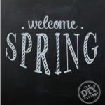 Welcome spring free chalkboard printable in 3 colors