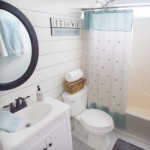 Fresh bathroom makeover to a small boring bathroom.